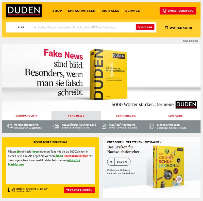 Startseite Duden.de