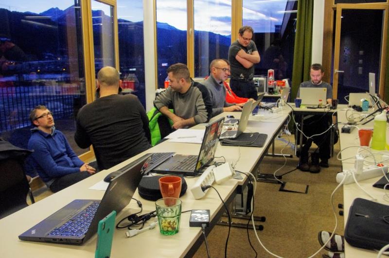 Programmierer beim Plone Sprint