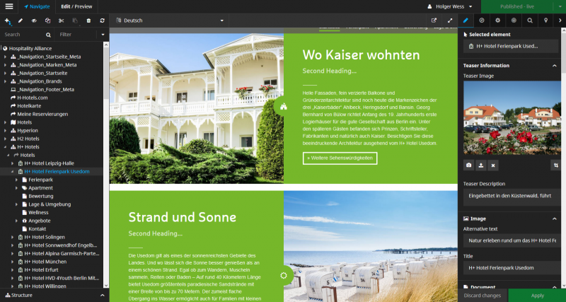 H-Hotels Neos Backend