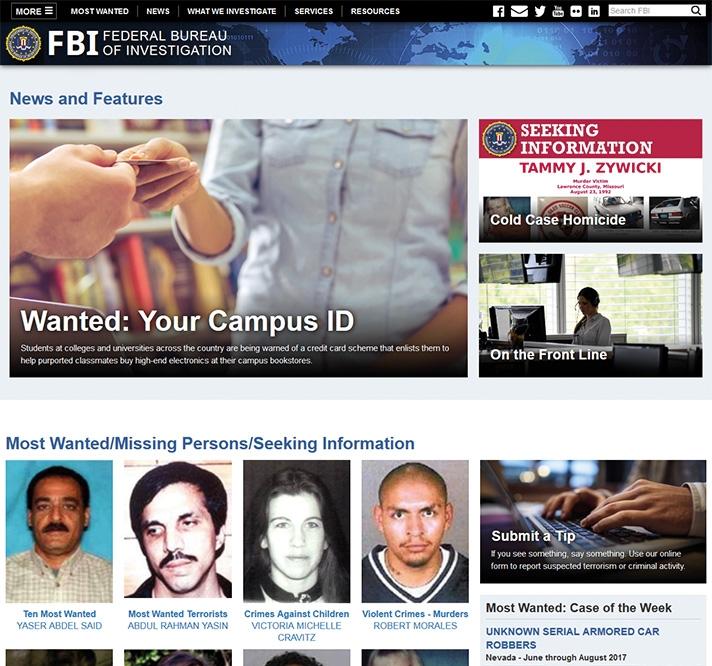 FBI-Homepage