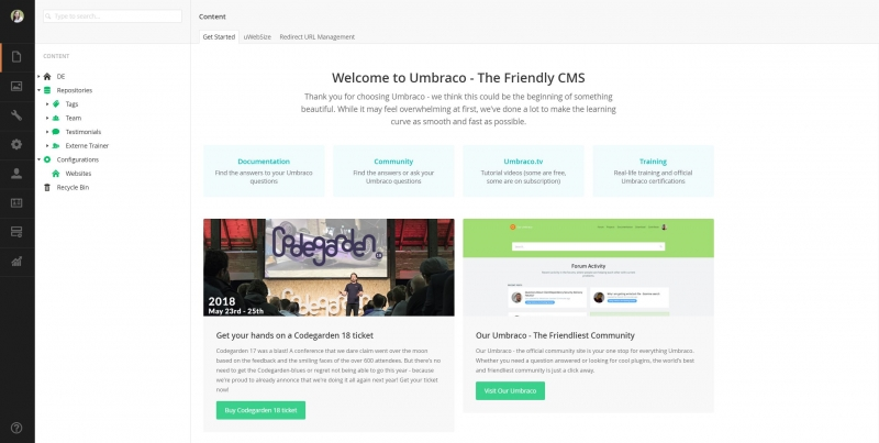 Umbraco-Dashboard