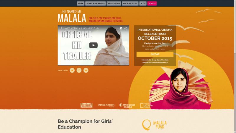 Malala's home page