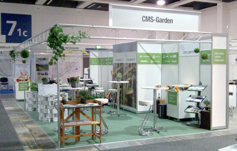 CMS-Garden booth the night before LinuxTag starts